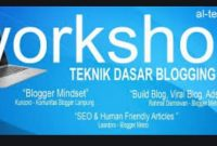 workshop teknik dasar blog di kota metro