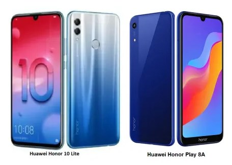 Honor 10 Lite dan 8 A