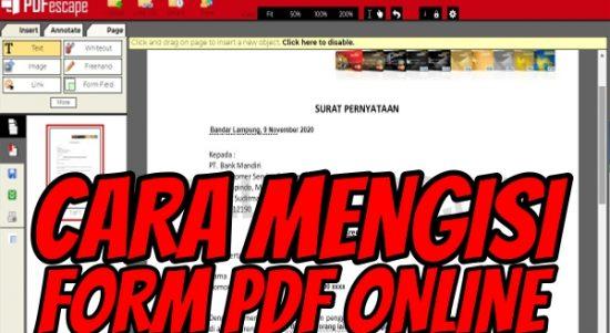 Cara Mengisi Form PDF Online