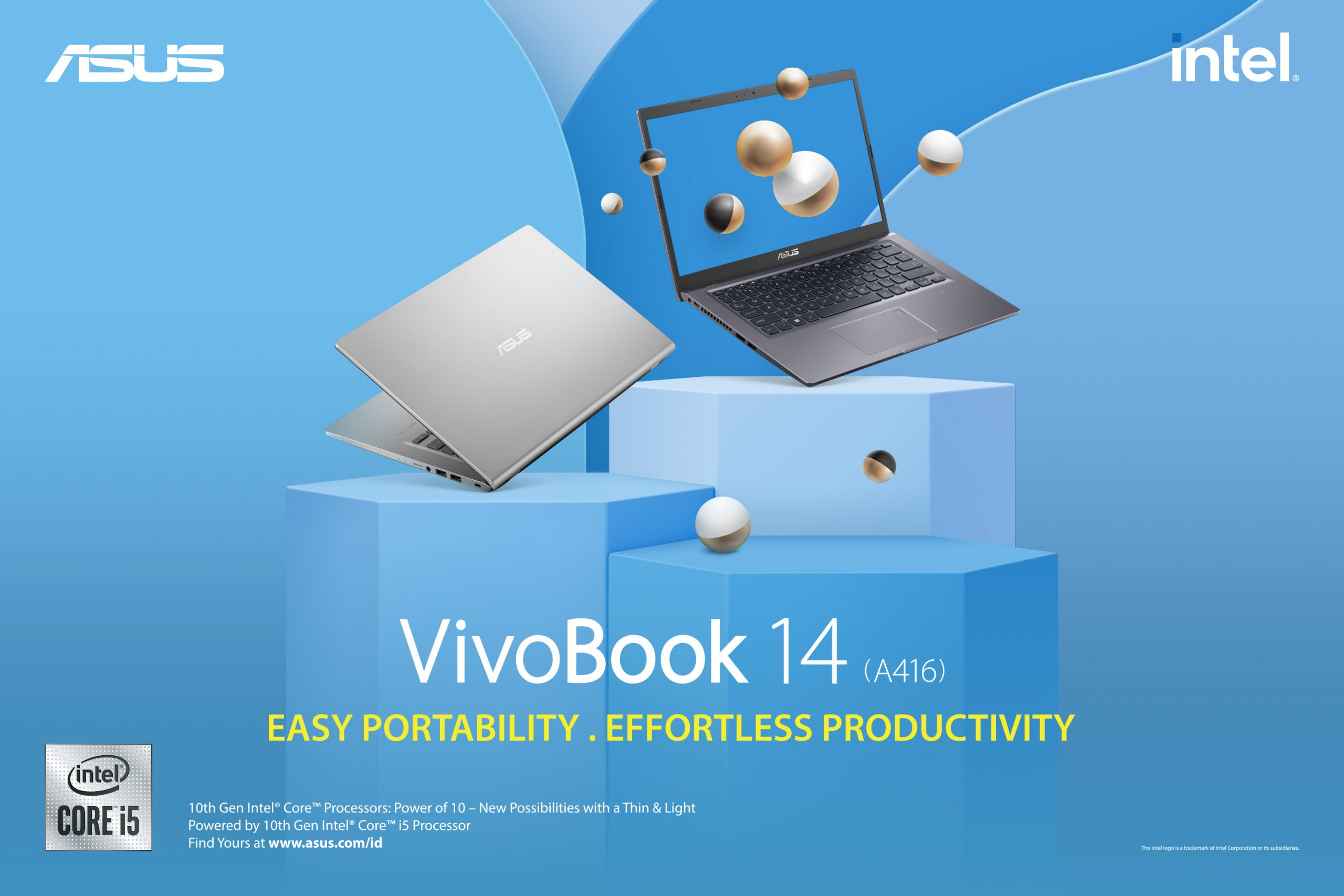 Intel Core 10th Gen - ASUS VivoBook 14 A416 - Easy Portability, Effortless Productivity