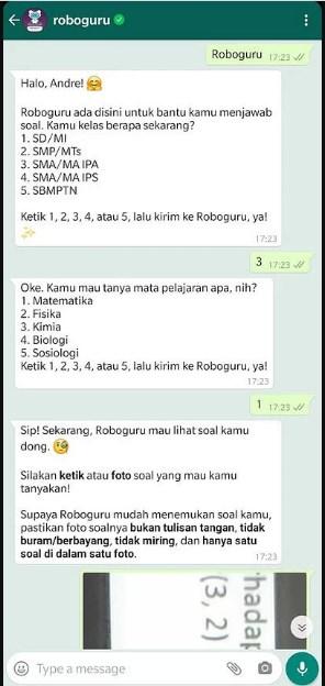 Contoh Pembahasan Soal di Roboguru