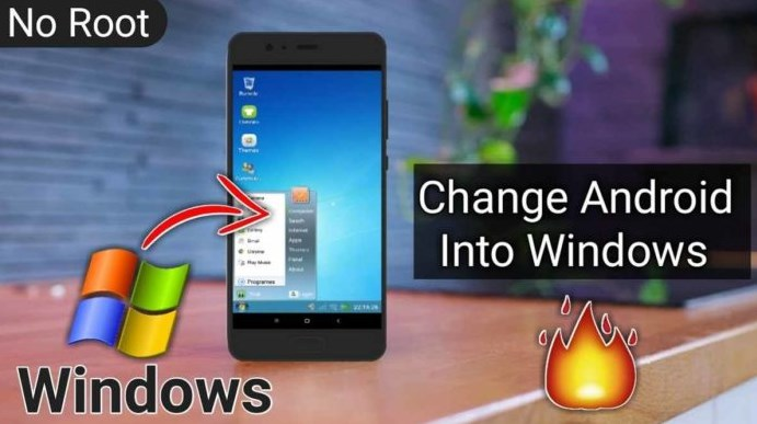 Cara Ubah Smartphone Android jadi Windows