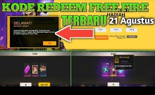 KODE REDEEM FF Terbaru 21 Agustus 2021 Free Fire Update